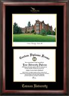 Towson Tigers Gold Embossed Diploma Frame with Lithograph