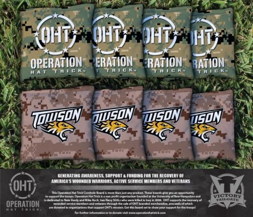Towson Tigers Operation Hat Trick Cornhole Bag Set