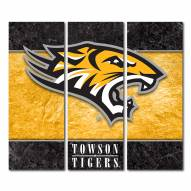 Towson Tigers Triptych Double Border Canvas Wall Art