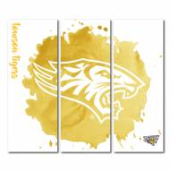 Towson Tigers Triptych Watercolor Canvas Wall Art
