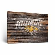 Towson Tigers Weathered Canvas Wall Art