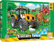 Tractor Town Farmer Miller's Pond 60 Piece Puzzle