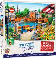 Travel Diary Amsterdam 550 Piece Puzzle