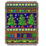 Tree Festivity Throw Blanket