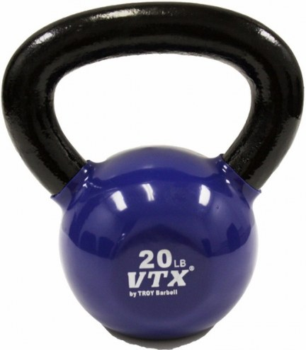 Troy Barbell USA Sports Vinyl Kettlebell 20lb-Blue