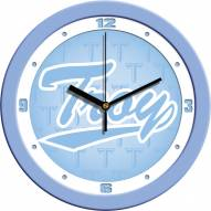 Troy Trojans Baby Blue Wall Clock