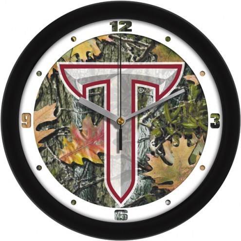 Troy Trojans Camo Wall Clock