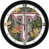 Troy Trojans Camo Wall Clock