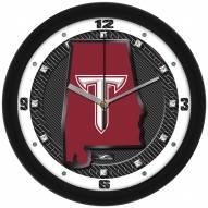 Troy Trojans Carbon Fiber Wall Clock