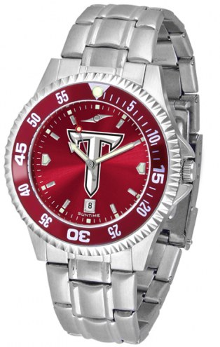 Troy Trojans Competitor Steel AnoChrome Color Bezel Men's Watch