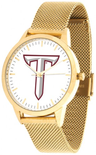 Troy Trojans Gold Mesh Statement Watch