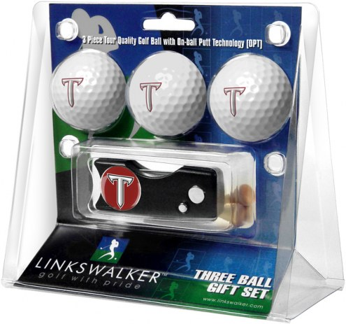 Troy Trojans Golf Ball Gift Pack with Spring Action Divot Tool