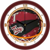 Troy Trojans Slam Dunk Wall Clock