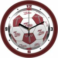 Troy Trojans Soccer Wall Clock