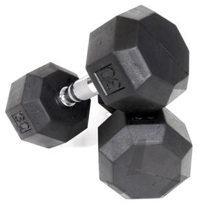 Troy VTX Pro Series Octagonal Rubber 45 Lb Dumbbell