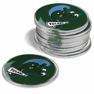 Tulane Green Wave 12-Pack Golf Ball Markers