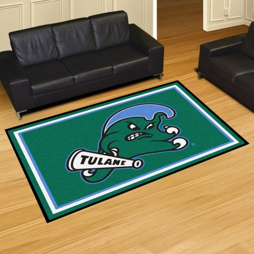 Tulane Green Wave 5' x 8' Area Rug