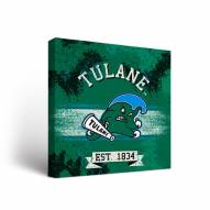 Tulane Green Wave Banner Canvas Wall Art