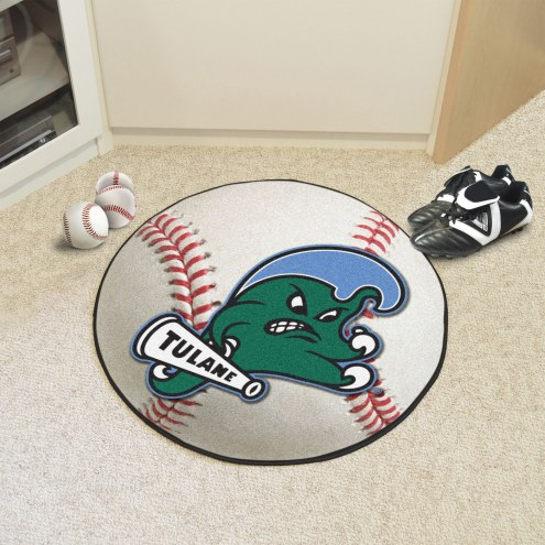 Tulane Green Wave Baseball Rug