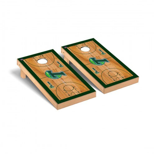 Tulane Green Wave Basketball Court Cornhole Game Set