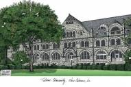 Tulane Green Wave Campus Images Lithograph