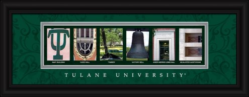 Tulane Green Wave Campus Letter Art