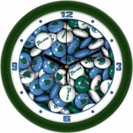Tulane Green Wave Candy Wall Clock