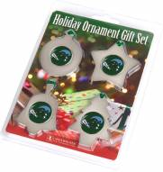Tulane Green Wave Christmas Ornament Gift Set