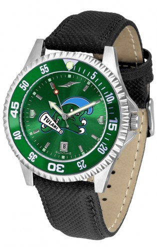 Tulane Green Wave Competitor AnoChrome Men's Watch - Color Bezel