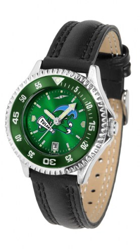 Tulane Green Wave Competitor AnoChrome Women's Watch - Color Bezel