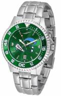 Tulane Green Wave Competitor Steel AnoChrome Color Bezel Men's Watch