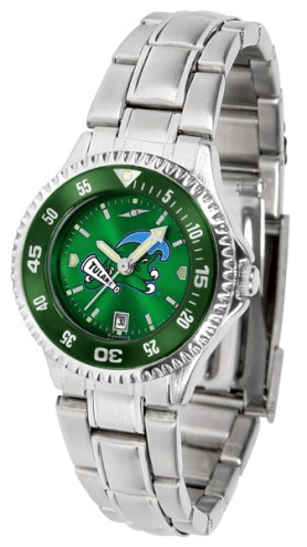 Tulane Green Wave Competitor Steel AnoChrome Women's Watch - Color Bezel