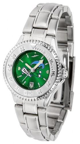Tulane Green Wave Competitor Steel AnoChrome Women's Watch