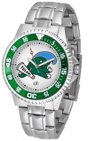 Tulane Green Wave Competitor Steel Men's Watch