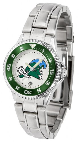 Tulane Green Wave Competitor Steel Women's Watch