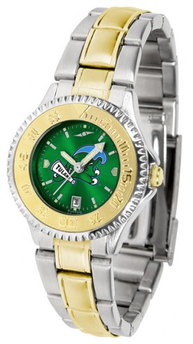 Tulane Green Wave Competitor Two-Tone AnoChrome Women's Watch
