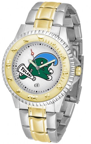 Tulane Green Wave Competitor Two-Tone Men's Watch