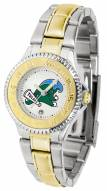 Tulane Green Wave Competitor Two-Tone Women's Watch