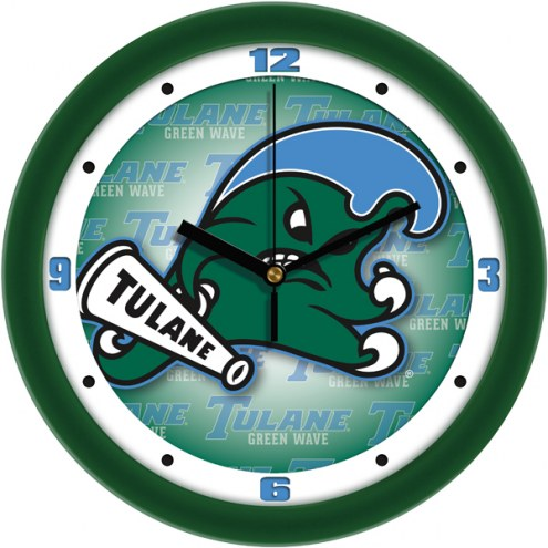 Tulane Green Wave Dimension Wall Clock