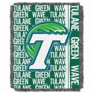 Tulane Green Wave Double Play Woven Throw Blanket