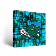 Tulane Green Wave Fight Song Canvas Wall Art