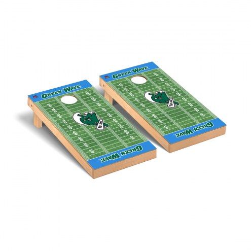 Tulane Green Wave Football Field Cornhole Game Set