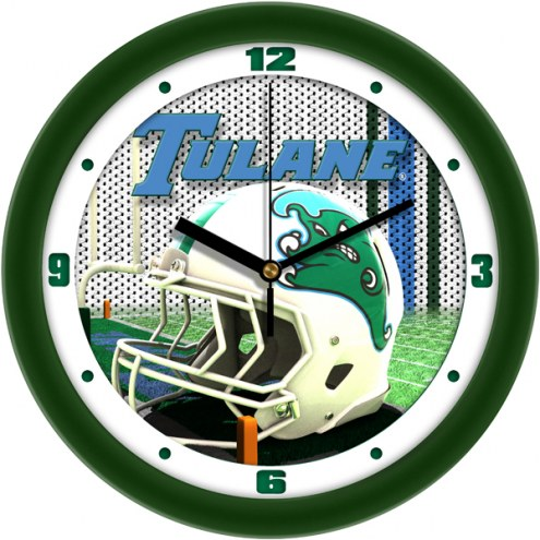 Tulane Green Wave Football Helmet Wall Clock