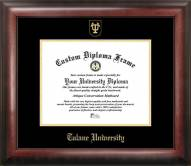 Tulane Green Wave Gold Embossed Diploma Frame