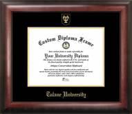 Tulane Green Wave Gold Embossed Diploma Frame