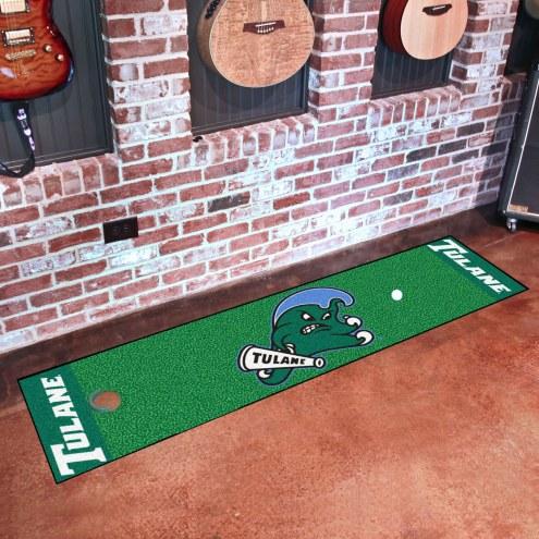 Tulane Green Wave Golf Putting Green Mat