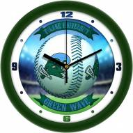 Tulane Green Wave Home Run Wall Clock
