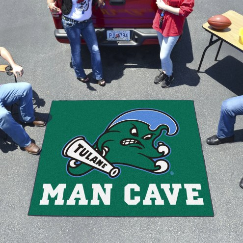 Tulane Green Wave Man Cave Tailgate Mat