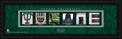 Tulane Green Wave Personalized Campus Letter Art