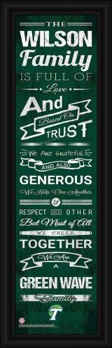 Tulane Green Wave Personalized Family Cheer Framed Art